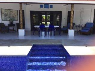 outdoor space from pool